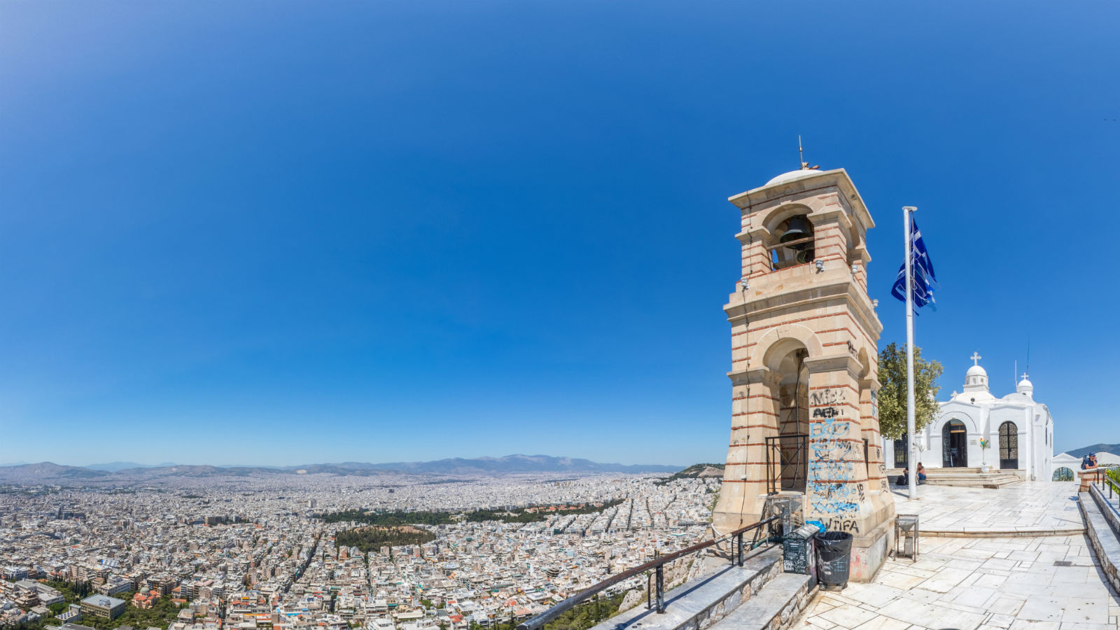 Destination Athens_St George church on Lycabettus Hill with view to Athens city and the sea_Greece (2)