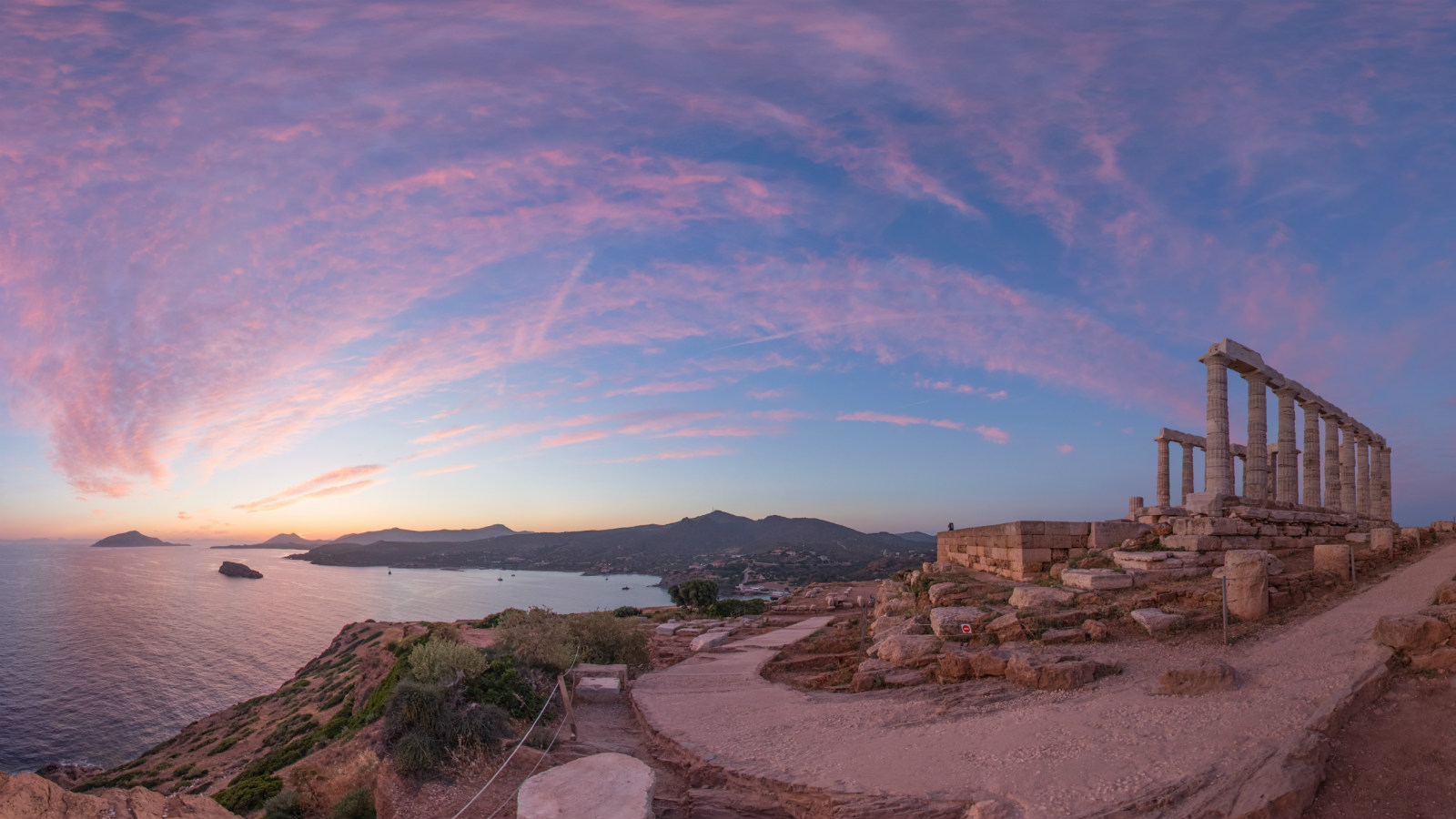 Destination Athens_Temple of Poseidon at Cape Sounio_Sunset view_Greece