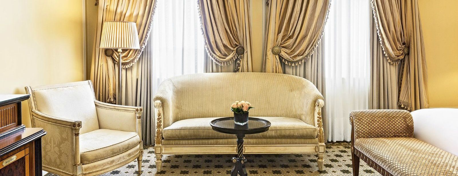 Junior Suite living room at Hotel Grande Bretagne, a Luxury Collection Hotel Athens